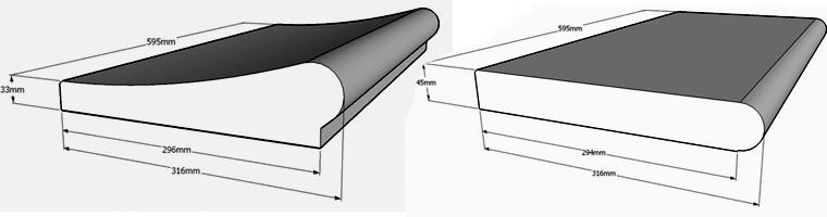 Großartig Beckenrandsteine Ovalpool 623x360cm Beton-Günstige Preise für  DL74