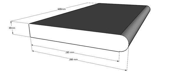 Pool randsteine granit verlegen schwimmbad und saunen for Poolumrandung achtformbecken