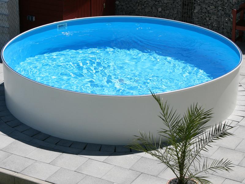 Stahlwandpool rundpool rundbecken pool set selbst for Pool rundbecken