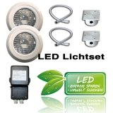 LED Pool Lichtset 6 | 2 x 18 Watt Seamaid RGB Multicolor
